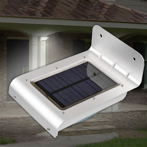 solar power led light 24 led motion sensor waterproof