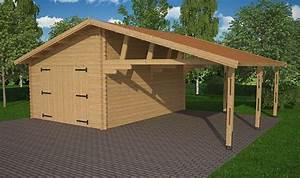Garage Voiture En Bois : carport et garage en bois de sapin robuste et lgant ~ Dallasstarsshop.com Idées de Décoration