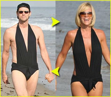 john mayer swimsuit fashion faceoff sexy black swimsuit jenny mccarthy jim