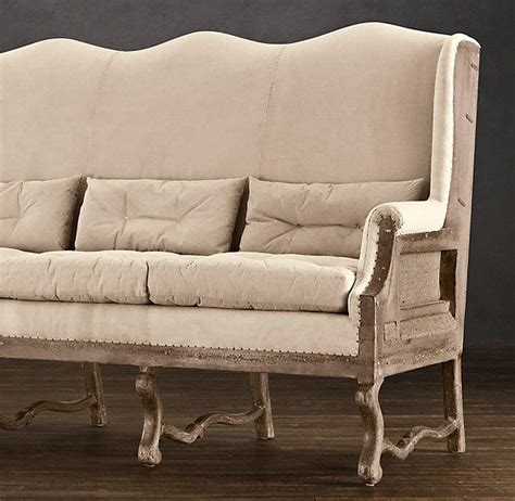 Restoration Hardware Settee by Deconstructed Wingback Settee From Restoration Hardware Home