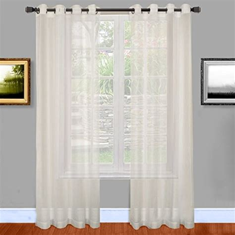 warm home designs 54 inch by 95 inch sheer window curtain