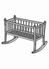 Bed Coloring Pages Cradle Cradles Print Psf Category Wikimedia Commons sketch template