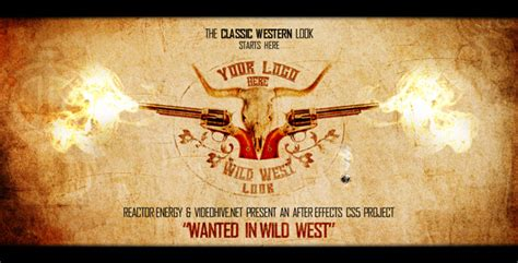 wanted  wild west  reactorenergy videohive