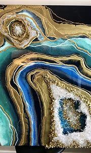 3d geode art- masterclass | Geode art, Resin wall art, Geode