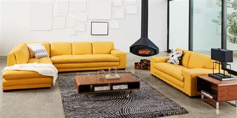Yellow Leather Sofa Set by Yellow Leather Sofa Set Contemporary Design 2018 2019