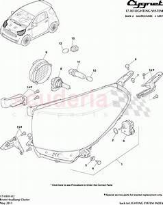 Aston Martin Cygnet Front Headlamp Cluster Parts