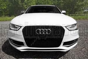 Audi S4 B9 : rs4 style glossy black mesh front grille for audi 2013 ~ Jslefanu.com Haus und Dekorationen