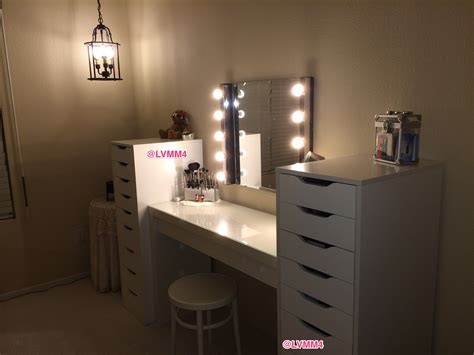 vanity table with lighted mirror ikea my vanity is finished ikea malm dressing table 149