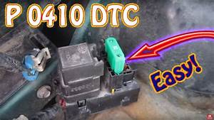 Check Engine Light Code P0410 Secondary Air Injection