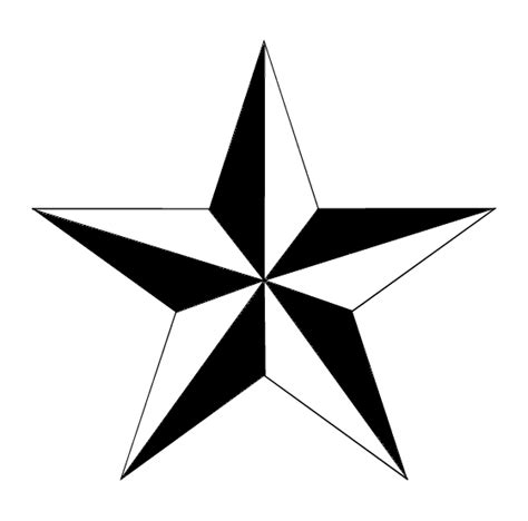 tribal  nautical star tattoo design