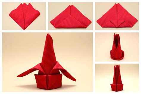 servietten falten blume servietten falten blume anleitung haus design ideen