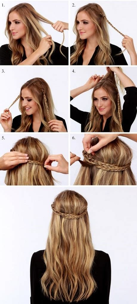 peinado sencillo pelo largo