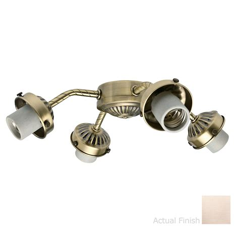 shop casablanca 4 light brushed nickel ceiling fan light