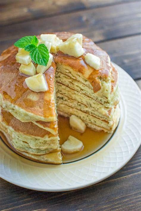 healthy banana pancakes cooktoria