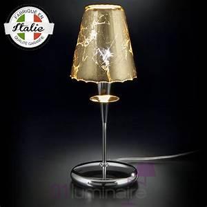 Lampe A Poser : lampe poser op ra feuilles or lampe design ~ Nature-et-papiers.com Idées de Décoration