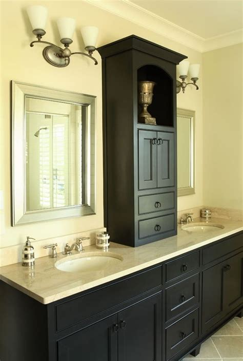 Bathroom Counter Ideas by Add Counter Top Cabinet On Builder Grade Cabinets To Make