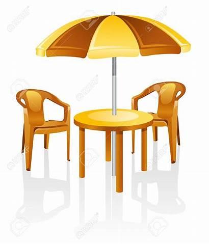Table Clipart Chair Umbrella Garden Furniture Outdoor