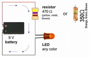 Simple Led Circuit With 9v Battery  U2013 Eric J  Forman  U2013 Teaching