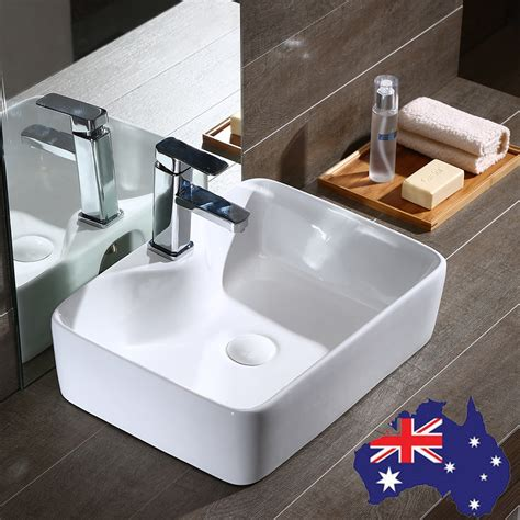 above counter bathroom sinks modern rectangle bathroom basin sink above counter mixer taps 1534
