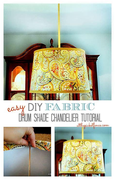 chandelier tutorial drum shade chandelier tutorial at the picket fence