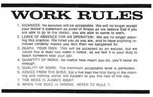 Funny Office Work Rules