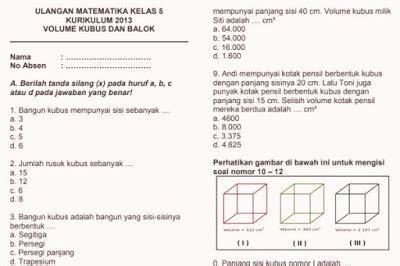 Artikel ini berisi kunci jawaban pr lks intan pariwara kelas 12 kurikulum 2013 revisi terbaru tahun 2020. Soal Ulangan Harian Matematika K13 Kelas 5 Volume ...