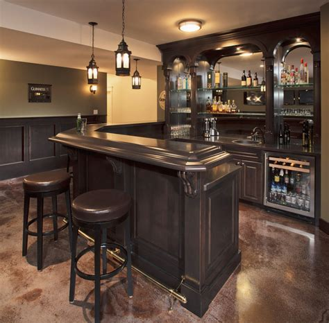 astonishing traditional home bars   daily