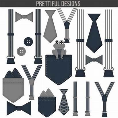 Suspenders Tie Clipart Bow Suspender Boy Clip
