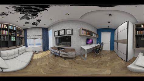 Home Interior 360 View : Bedroom Interior Render 360 View