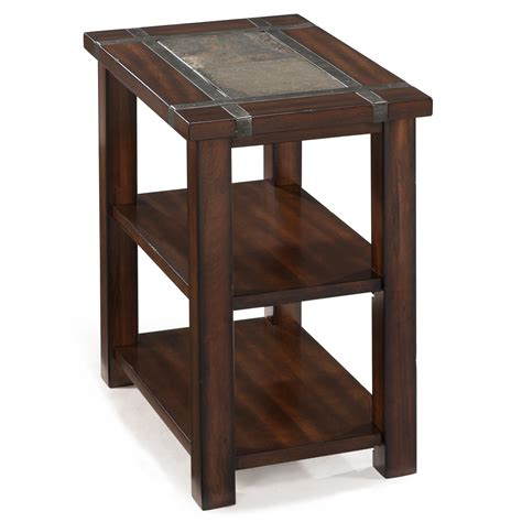 chair side tables uk roanoke rectangular chairside end table with 2 shelves