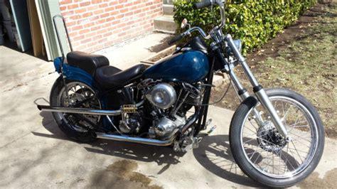 Harley Davidson Shovelhead Rigid Bobber Old School Chopper