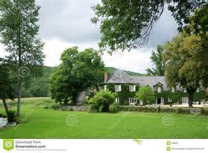 small country house plans house in country garden trees stock photos image