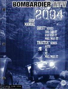 2004 Bombardier Traxter Quest Atv Service Manual