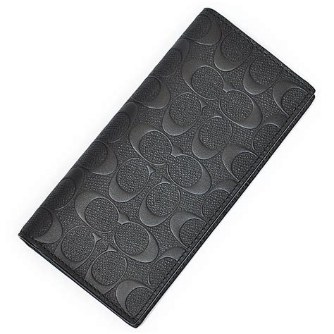 coach slim wallet black 1 coach black new embossed signature logo slim