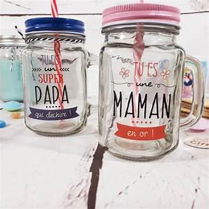 Mason Jar Paille : mason jar avec paille maman en or cadeau maman ~ Teatrodelosmanantiales.com Idées de Décoration