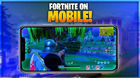 fortnite coming  mobile   play early fortnite