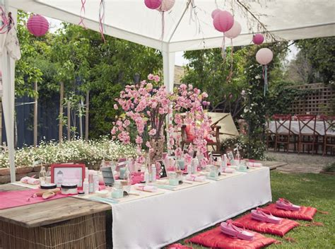 karas party ideas cherry blossom spa themed birthday party