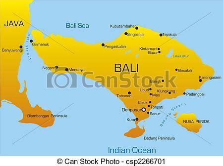 vector map  bali country