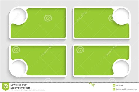css template box text image set of four green text boxes stock images image 35120534