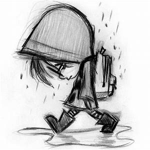 Drawn sadness meaning - Pencil and in color drawn sadness ...