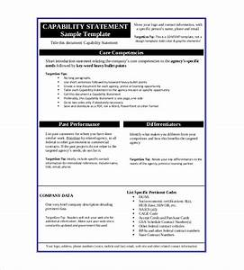 statement templates 30 free word excel pdf indesign With capabilities statement template