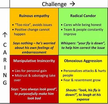 Radical Candor Quadrants Summary Matrix Efficiency Reflect