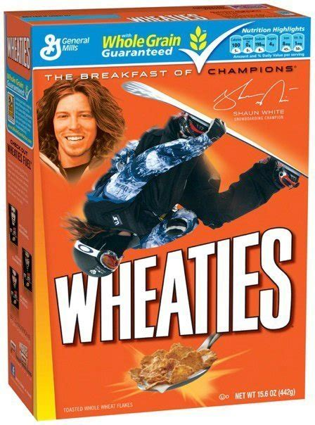 wheaties olympic boxes shaun white lindsey vonn seth