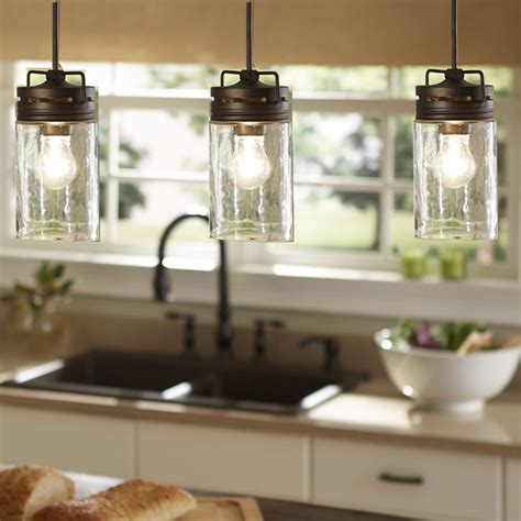 kitchen lights island industrial farmhouse glass jar pendant light pendant