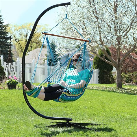 Hanging Ls Ebay by Hanging Soft Cushioned Hammock Chair W Footrest