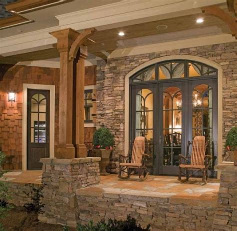 country style homes interior beautiful stonework on this craftman home favething com