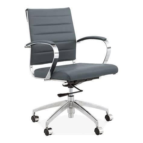 grey desk chair cult living deluxe grey office chair eames inspired