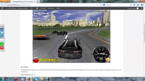 Let's play the puzzle game! Cool Car Games-Bugatti Racing 3D - YouTube