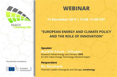 "Webinar ""european Energy And Climate Policy And The Role"