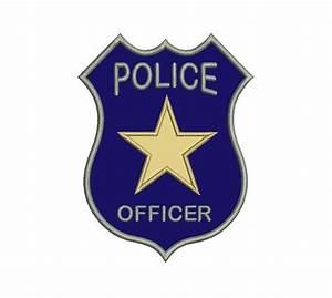 Police Badge Applique Machine Embroidery Digitized Design